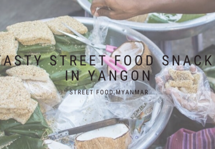 Tasty Street Food Snacks at Yangon